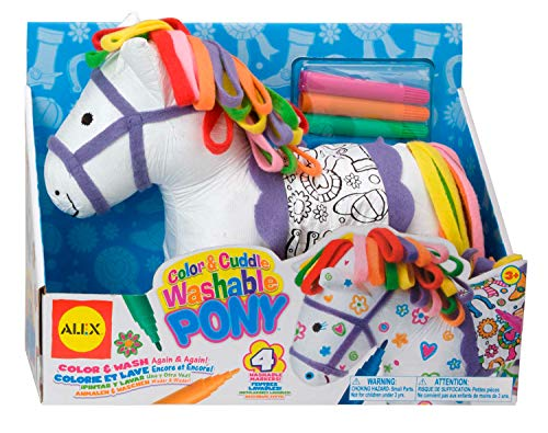 Alex Craft Color and Cuddle Washable Pony Kids Art and Craft Activity