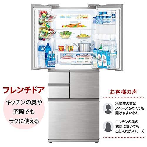 シャープSHARPプラズマクラスター冷蔵庫(幅68.5cm)502L6ドア(観音開き・フレンチドア)シャインシルバーSJ-F502F-S