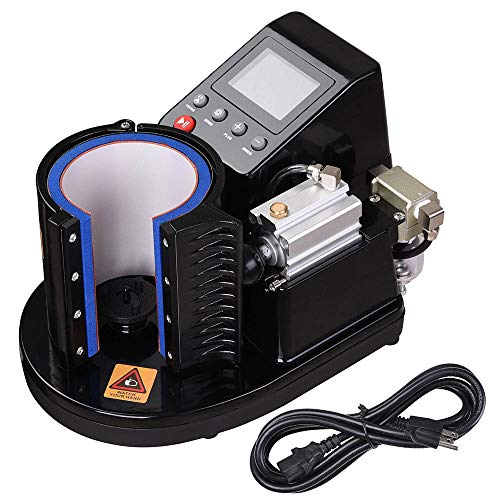 Yescom Automatic Pneumatic Mug Heat Press Transfer Sublimation Machine for 3 1/8'(Dia.) Cup
