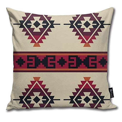 Emonye Daryl Dixon Poncho Pillow Cover, 18 x 18 Inch Winter Holiday Farmhouse Cotton Cushion Case Decoration for Sofa Couch