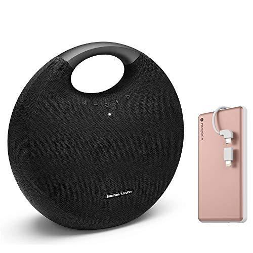Harman Kardon Onyx Studio 6 Wireless Bluetooth Speaker - IPX7 Waterproof Extra Bass Sound System, Built-in Microphone + Powerstation Plus External Battery for Smartphone - Rose Gold/Black