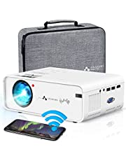 $79 » WiFi Projector ASAKUKI Mini Portable Projector for Home Outdoor Movies with Carrying Bag, 7500L, 1080P, 200'' Screen Supported, Great for Home Theater with iPhone/Android/iOS/HDMI/USB/VGA/AV Port