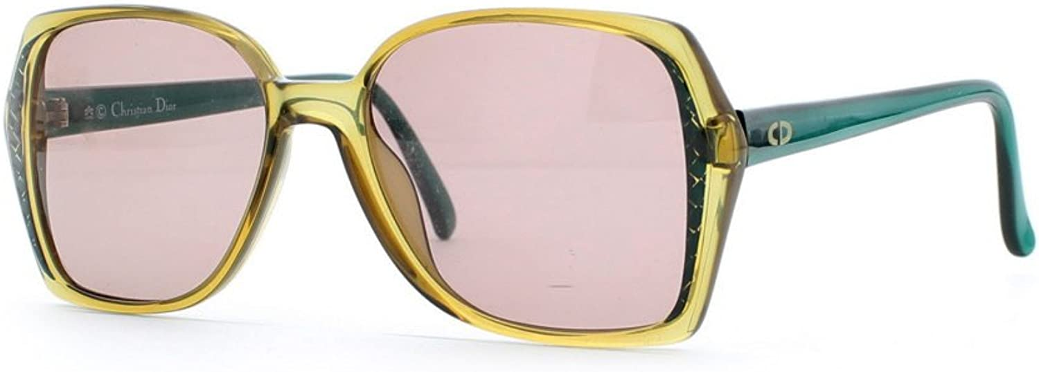 Christian Dior 2402 50 Yellow and Green Authentic Women Vintage Sunglasses