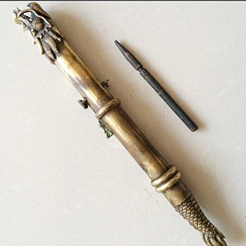 China Old Handwork antiguo antiguo bronce Dragón Espada Oculta En El Puño, oculta arma