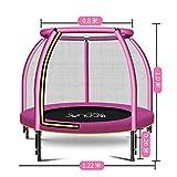 Q&Q Trampolin Kinder Indoortrampolin Jumper Randabdeckung Stangen gepolstert, Sicherheitsnetz (Color : Pink)