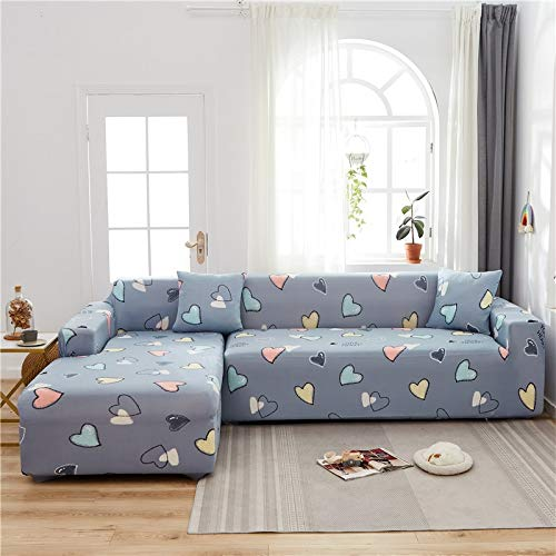 Funda de sofá elástica Funda de sofá geométrica Funda de sofá elástica para Sala de Estar Esquina de Mascotas en Forma de L Chaise Sofá Funda A25 4 plazas