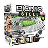 Bionic Steel 304 Stainless Steel Metal Garden Hose 100FT - Lightweight, Kink-Free,