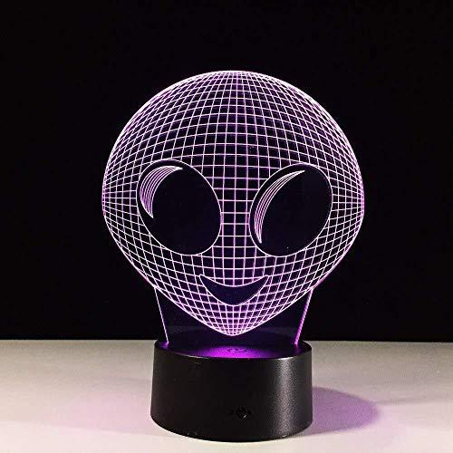 3D-nachtlampje voor Kerstmis, unieke 3D-film, led-tafellamp met led-lampjes, kleurrijk licht, decoratie, 7 kleuren
