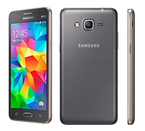 Samsung Galaxy Grand Prime - Smartphone sbloccato Android, schermo 5, fotocamera 8 MP, 8 GB, quad-core 1.2 GHz, 1 GB RAM), Grigio