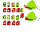 2PCS Tongue Game Tongue Catch Bugs Game,Joint Take Card-Eat Pest Car,Greedy Chameleon Sticking Tongue Out Funny Desktop Toy Board Games Frog Card Toys for Anyone
