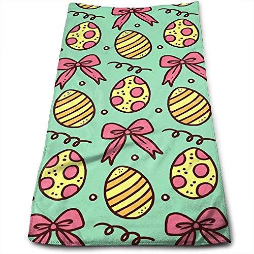 Handtücher Osterei und Bogenmuster Hochsaugfähige, schnell trocknende Handtücher für Handgesicht, Fitnessstudio und Spa 30 * 70 cm