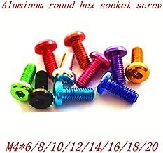 Screws - 10pcs/lot M46/8/10/12/14/16/18/20 Aluminum Anodized hex Socket Button Head Screw