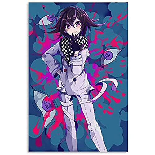 Kingkoil Danganronpa Kokichi Anime Poster Lienzo Cuadro Cuadro Moderno Oficina Familiar Dormitorio Decorativo Carteles Decorativos Regalo Decoración Pared Posters 30x45cm Marco
