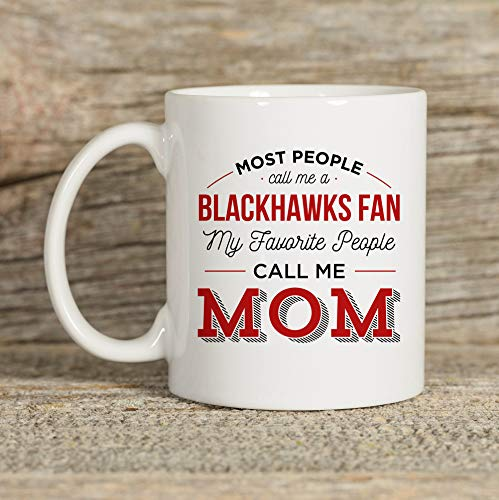 DKISEE Blackhawks Tasse, Chicago Tasse, Chicago Geschenk, Teetasse, Tasse für Mama, 425 ml Keramik-Kaffeetasse, Teetasse