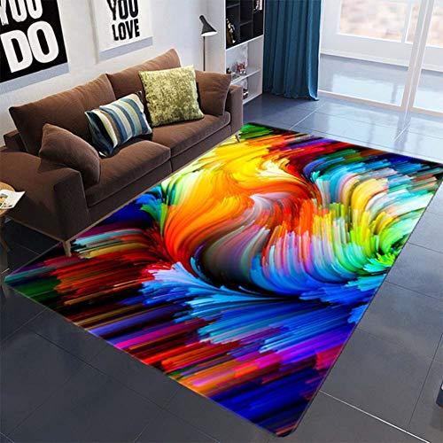 Loadfckcer Modern 3D-tapijt, driedimensionale tapijt, antislip, voor kinderkamer, vloer, woonkamer, badkamer, hal, deurmat