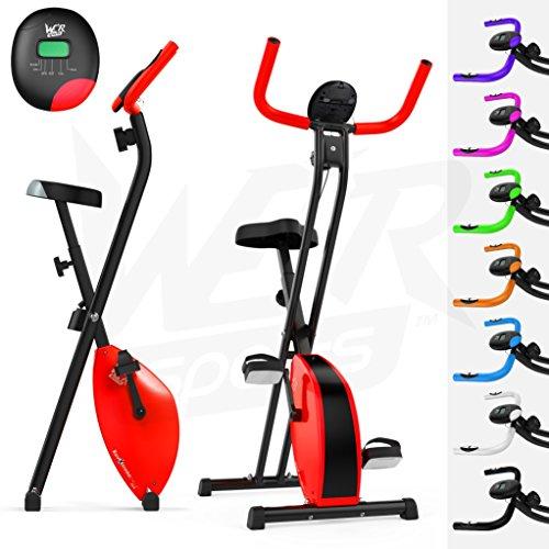 We R Sports Pieghevole Magnetico Esercizio Bici X-Bike Fitness Cardio Allenamento Peso Perdita Macchina (Red)