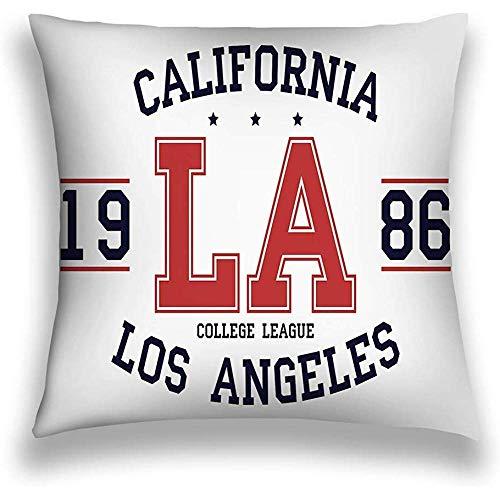 GWrix kussensloop sierkussensloop vierkant kussensloop, slaapbank 45X45CM Twin Sides California Los Angeles Slogan Typography College P