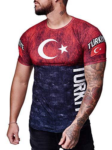 FUßBALL   Deutschland   Russland   Polen   Spanien   TÜRKEI   Fan Ländershirt Body T-Shirt WM 2021 (Türkei, XL)
