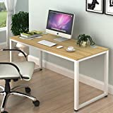 SHW Home Office 55-Inch Large Computer Desk (Walnut)