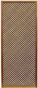 Celosía De Madera Tratada para Decoración De Terrazas, Jardines y Exteriores - Teca (228x92 cm)
