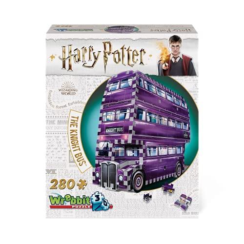 Wrebbit 3D-El Autobús Noctámbulo Harry Potter Juguetes, Color, 26 x 7 x 19 cm (Red String W3D-0507)