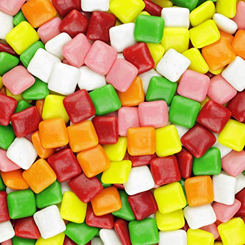 Chiclet Gum Tabs Mix - Assorted Flavors Chewing Gums - Chicle Tab Bulk Package, 2.5 lb