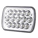 5' x 7' 7x6 Inch LED Rectangular LED Headlight Headlamp Projector Replacement H6054 H5054 H6054LL 69822 6052 6053 for Jeep Wrangler JK YJ CJ TJ MJ Cherokee XJ Truck 4X4 Offroad (5x7)