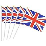 Xinhengchen イギリスフラグ ワールドカップ フェスティバルイベント アンタイドイギリスフラグ ナショナルフラッグ パーティーデコレーション用品(パレード用) 国際フェスティバル 10xハンドヘルドスモールミニフラグ England