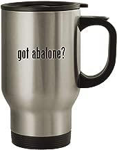 got abalone? - Stainless Steel 14oz Travel Mug, Silver