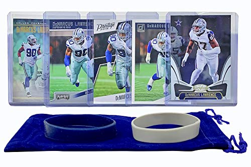 DeMarcus Lawrence Football Cards (5) Assorted Bundle - Dallas Cowboys Trading Card Gift Set
