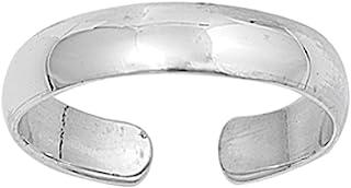 Anello da Piede Argento Sterling 925, 2mm Modello 9