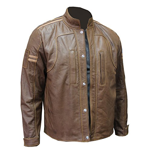 Chicago Protective Apparel 600-WCL-L Leather Welding Moto Jacket, Large, Medium Tan Brown