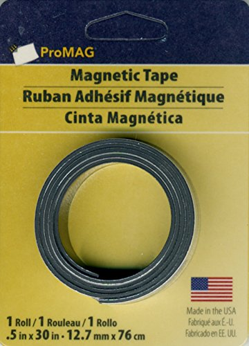 Magnum Magnetics Corp Adhesive Magnetic Strip 1//2Inch x 25Feet