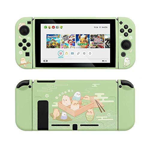 Custodia protettiva GeekShare per Nintendo Switch, custodia morbida in TPU sottile compatibile con console Nintendo Switch e Joy-Con (piccoli pappagalli) [videogioco]