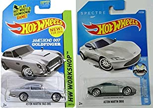 Hot Wheels 2-Car Spectre and Goldfinger James Bond Silver Aston Martin Set DB5 and DB10