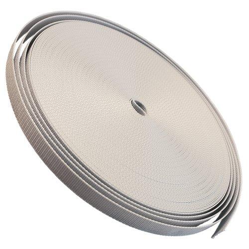 Gurtband 23mm Breite Farbe grau 50m-Rolle Rolladengurt für Rolladen