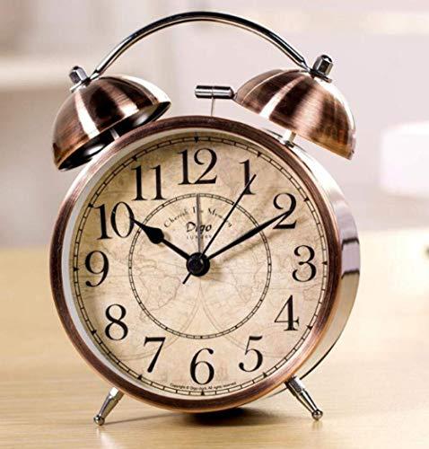 Creative nachtkastmodus Europese retro mute Leuke wekker Amerikaanse slaapkamer en Studie bed decoratie eenvoudig Desk en bureau en tafel Klok persoonlijkheid timing met creatieve super hard