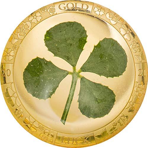 Four Leaf Clover Trebol Suerte Moneda Oro Coin 1$ Palau 2021