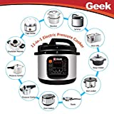 Geek Robocook Automatic 5 Litre Electric Pressure Cooker with 11 in 1 Function, Feather Touch Preset Menu (Non Stick Pot, Black)