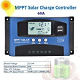 Controlador de carga solar, 12V/24V 30-100A Regulador de panel solar MPPT, Seguimiento de ...
