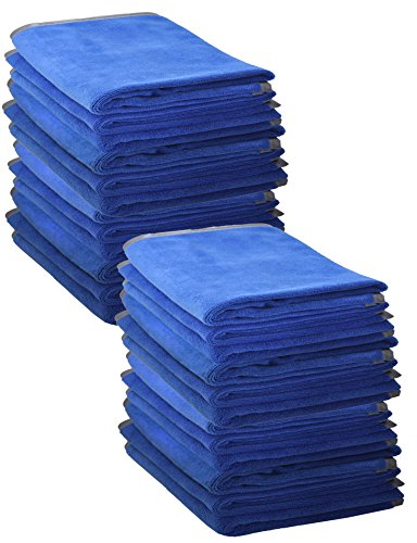 24 Pack, Red Detailer 365 UItraplush Premium Microfiber Towel