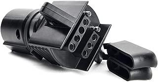 SnowyFox Trailer Adapter 7 Way to 4 Way 5 Way 2-in-1 Flat Blade Plug