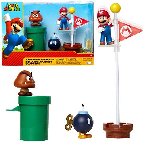 Jakks Pacific Super Mario-Figuren, Mehrfarbig, 6 cm (85987)
