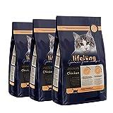 Marca Amazon Lifelong Alimento seco para gatos adultos esterilizados con pllo...