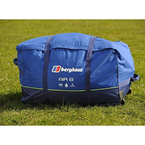 Berghaus Air 8 Inflatable Tunnel Design 8 Person Family Tent, Blue, One Size Outdoor Recreation Apparel & Equipment Sporting Goods