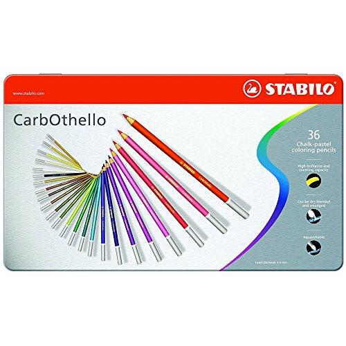 STABILO Pastellkreidestift CarbOthello, 36er MetallEtui