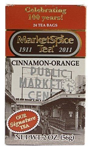MarketSpice Teabags box of 24 Market Spice Tea CinnamonOrange Net WT 56G