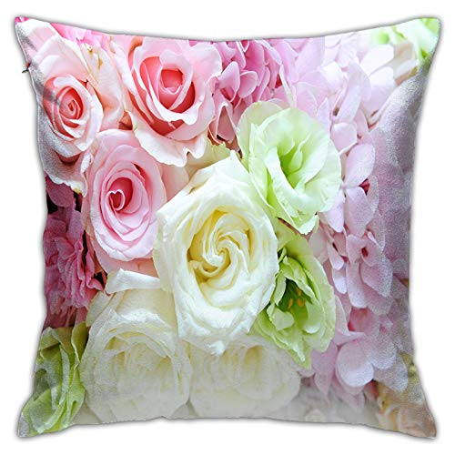 MZTYPLK Decorative Square Pillow Covers,flower,Pillowcases Cushion Cover Throw Home Decor for Sofa Car Bedroom (50x50cm)(2PCS)