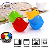4pcs Silicone Egg Poacher Silicone Egg Poaching Cups Poaching Pods Egg Mold Bowl Microwave or Stovetop Egg Cooking Egg Poacher Pan Poached Baking Cup Mixed-4pack