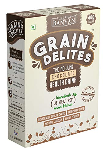 The Great Banyan GrainDelites - The No Junk Chocolate Health Drink Mix for Kids & Adults - 400g